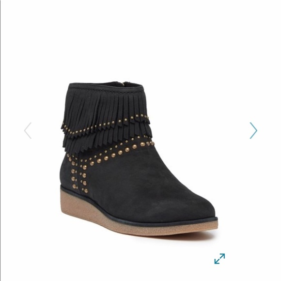 0fefff07cc8 UGG Adriana Wedge Fringe Leather Boot